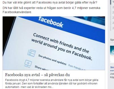 İsveç'te 4,7 milyon facebook kullanıcısı mutlaka bu haberi okusun!