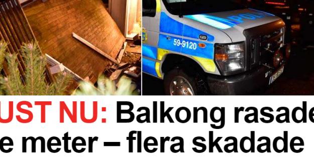 İsveç'te havai fişek izlerken balkon çöktü 20 yaralı...VİDEO