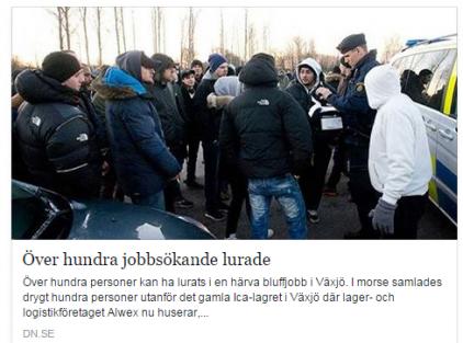 İsveç'te İşe alındığı belirtilen 130 kişi, kandırıldı