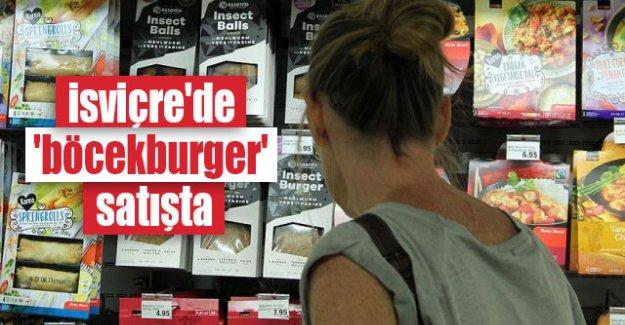 İsviçre'de 'böcekburger' satışta