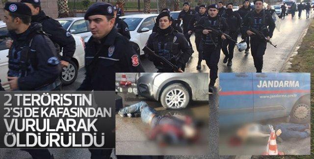 İzmir'de adliyeye saldıran teröristler öldürüldü