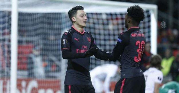 Mesut Özil'li Arsenal, Östersunds'u Farklı Mağlup Etti