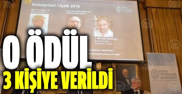 Nobel Fizik Ödülü üç bilim adamına verildi