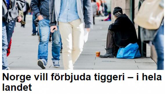 Norveç sokaklarda dilenmeyi yasaklıyor...