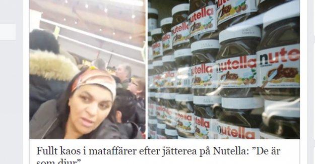 Nutella indirimi izdihama yol açtı