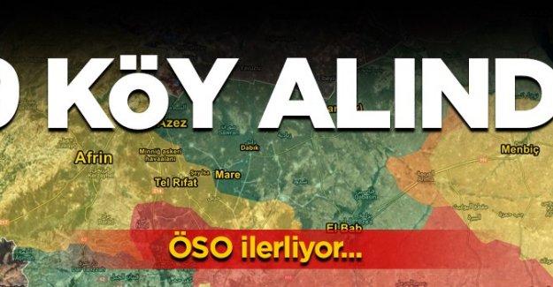 ÖSO ilerliyor! Afrin'de 9 köy alındı