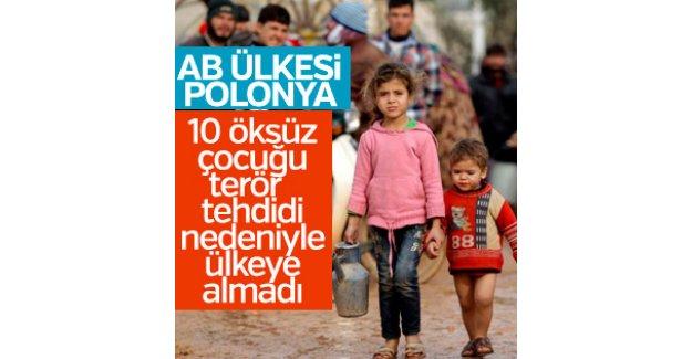 Polonya 10 Suriyeli öksüzü ülkeye almadı