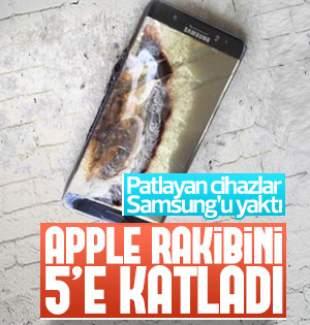 Apple'ın karı Samsung'u 5'e katladı