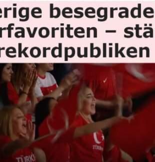 Türkiye İsveç maçında tüm zamanların seyirci rekoru kırıldı