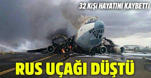 Rus uçağı Suriye'de düştü! Çok sayıda ölü var