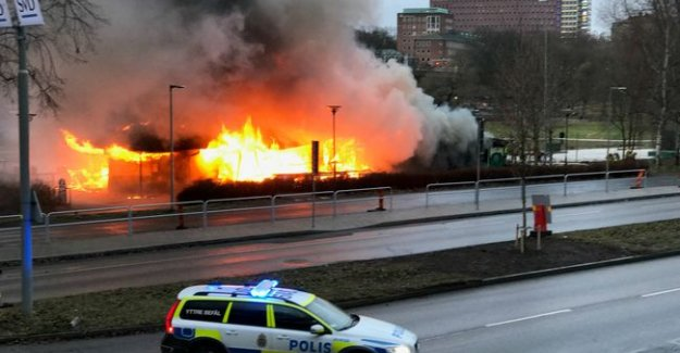 Stockholm'de bir restoran yandı