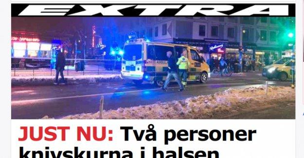 Stockholm'de iki kişi bıçaklandı