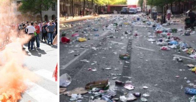 Stockholm'ü çöplüğe çevirdiler...