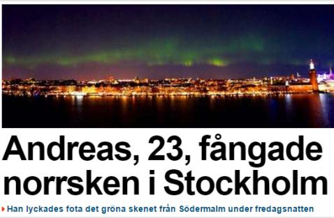 Stockholm'ü böyle hiç görmediniz! FOTO