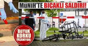Almanya Münih'te bıçaklı saldırı