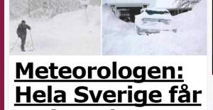 İsveç bir hafta boyunca donacak