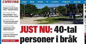 İsveç'te 40 Kişi Birbirine Girdi