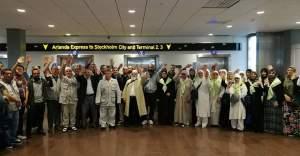 İsveç'ten Hacı Adayları Kutsal Topraklara Uğurlandı