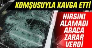 Kulu'da kavga Ettiği Komşusunun Otomobilini Parçaladı