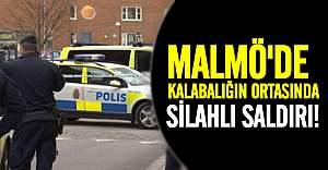 Malmö merkezinde herkesin gözü önünde kurşunlama