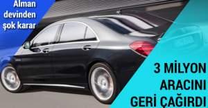 Mercedes 3 milyon aracını geri çağırdı