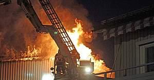 Östersund'da çıkan yangında bir kişi hayatını kaybetti