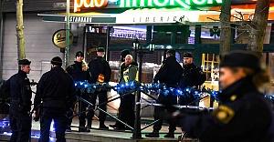 İsveç'te Polis, Saldırganı  Bacağından böyle vurdu