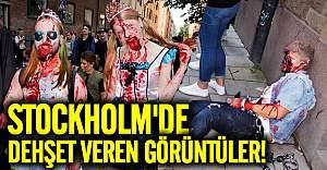 Stockholm'de dehşet veren görüntüler