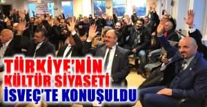 Türkiye'nin Kültür Siyaseti İsveç'te konuşuldu