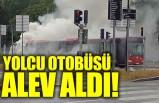 Solna'da yolcu otobüsü alev aldı