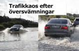 İsveç'te sel trafiği felç etti