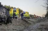 İsveç'te takla atıp ters dönen araçta bir kadın ağır yaralandı