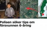 İsveç'te bir kayıp vakası daha - 6 yaşındaki kayıp çocuk aranıyor