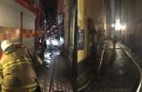 Stockholm'ün tarihi bölgesi Gamla Stan'da yangın