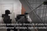 İsveç narkotik polisinin baskın görüntüleri