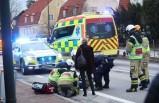 İsveç'te bir kişiye otobüs çarptı