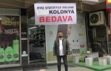 Türkiye'de fırsatçılara tepki gösteren esnaf, kolonyayı bedava dağıtmaya başladı