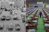 Tüm bilimsel ilerlemeye rağmen 2020, 1918 gibi görünmeye başladı