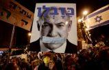 İsrail'de protesto: On bin kişi Netanyahu'yu istifaya davet etti