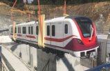 İstanbul Havalimanı Metrosu'nda ilk tren raylara indi