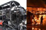 Linköping'de üç otobüs yangında yok oldu