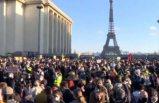Macron hükümetinin polisleri koruyan yasa tasarısına Paris'te dev protesto