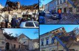 AB ülkesindeki korkunç deprem anı kameraya böyle yansıdı