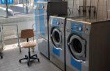 Çamaşırhanede (tvättstuga) çekiçli kavga