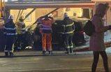 Norrtälje'de kontrolden çıkan araç restorana girdi