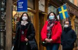 Stockholm'de korona protestosuna polis müdahalesi