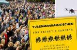 Stockholm'de dev 'antikorona' gösterisi