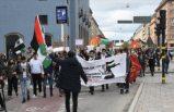 İsveç'te İsrail'in Filistin'e yönelik saldırıları protesto edildi