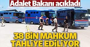 38 bin mahkuma tahliye yolu