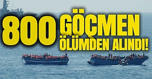 Akdeniz'de 800 göçmen ölümden kurtarıldı